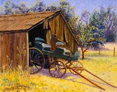 """Blacksmith's Wagon in Old Cordelia, 1881"" by Daphne Wynne Nixon, 2005"