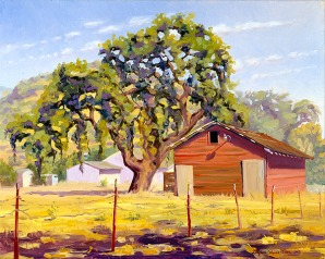 """The Oak by the Red Barn"" by Daphne Wynne Nixon"