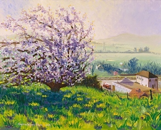 """The Almond Tree Above Old Cordelia"" by Daphne Wynne Nixon, 2004"