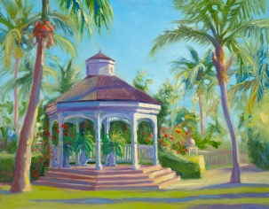 """Rose Hall Gazebo"", 11"" x 14"", oil by Daphne Wynne Nixon"